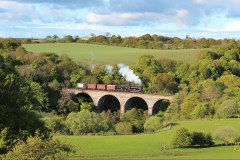 (Andrew Fowler) 62712 Avon Viaduct May 2014 with a photo charter.